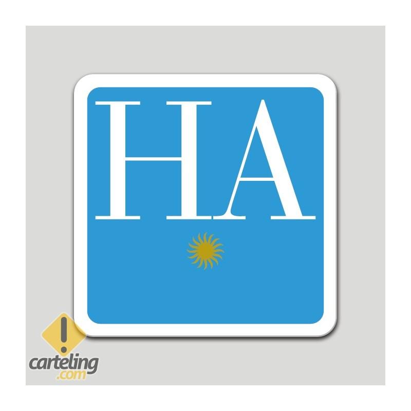 Placa distintivo hotel apartamento una estrella - Galicia