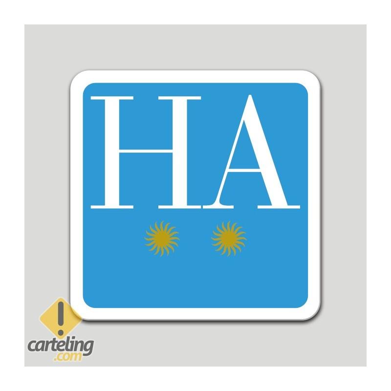 Placa distintivo hotel apartamento dos estrellas - Galicia