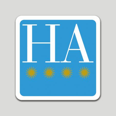Placa distintivo hotel apartamento cuatro estrellas - Galicia