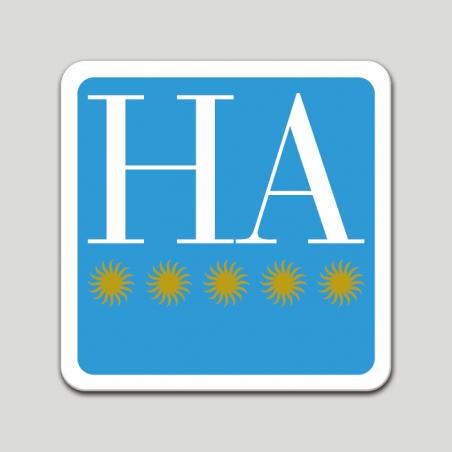 Placa distintivo hotel apartamento cinco estrellas - Galicia