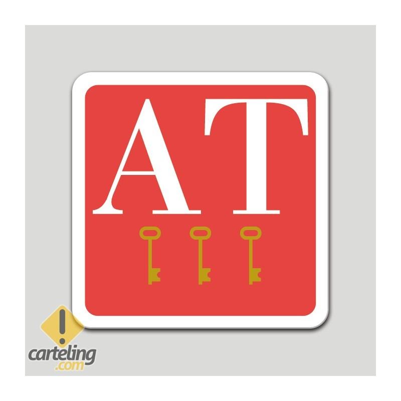 Placa distintivo apartamento tres llaves - Galicia