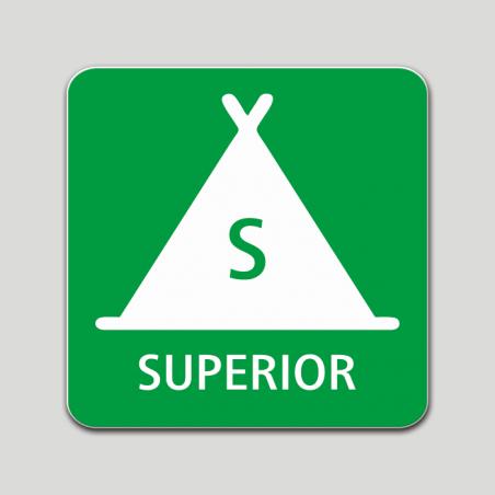 Placa distintivo Campamento de turismo categoría superior - Galicia