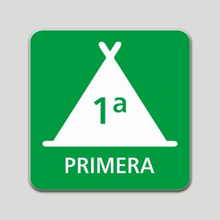 Placa distintivo Campamento de turismo primera categoría - Galicia