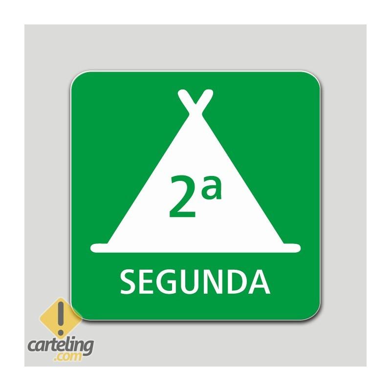 Placa distintivo Campamento de turismo segunda categoría - Galicia