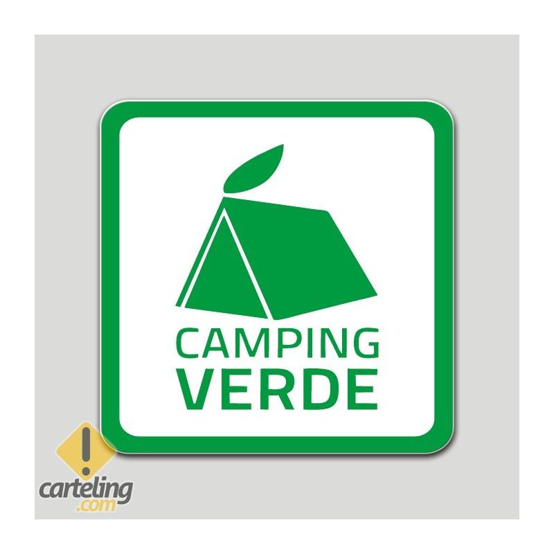 Placa distintivo Campamento de turismo verde - Galicia