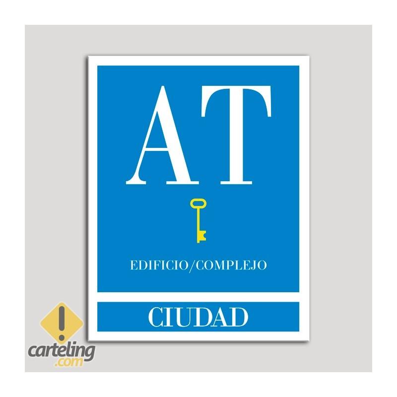 Placa distintivo Apartamento turístico - Edifico/Complejo - Ciudad - Una llave-oro.Andalucía.