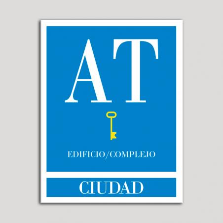 Placa distintivo Apartamento turístico - Edificio/Complejo - Ciudad - Una llave-oro.Andalucía.