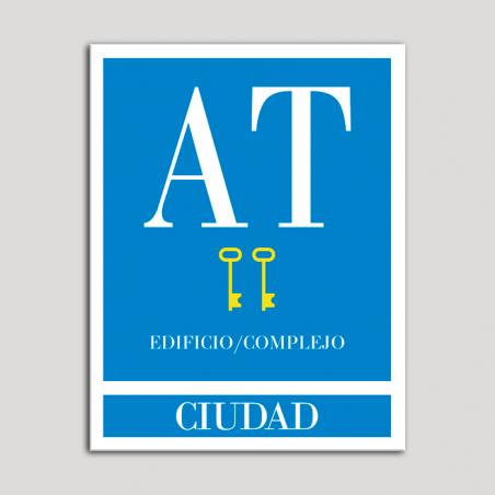 Placa distintivo Apartamento turístico - Edificio/Complejo - Ciudad - Dos llaves-oro.Andalucía.