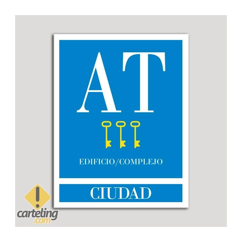 Placa distintivo Apartamento turístico - Edificio/Complejo - Ciudad - Tres llaves-oro.Andalucía.