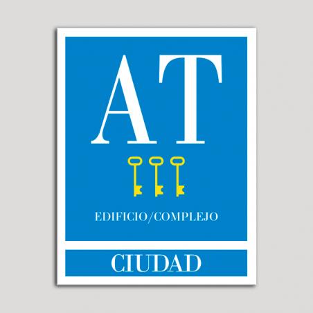 Placa distintivo Apartamento turístico - Edifico/Complejo - Ciudad - Tres llaves-oro.Andalucía.