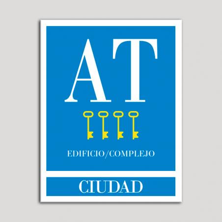 Placa distintivo Apartamento turístico - Edifico/Complejo - Ciudad - Cuatro llaves-oro.Andalucía.