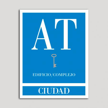 Placa distintivo Apartamento turístico -Edificio/Complejo - Ciudad - Una llave-plata.Andalucía.