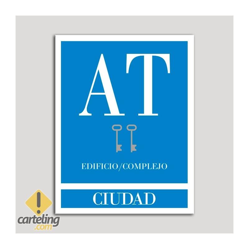 Placa distintivo Apartamento turístico - Edifico/Complejo - Ciudad - Dos llaves-plata.Andalucía.