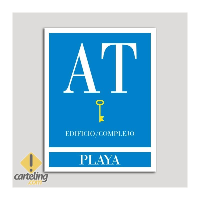 Placa distintivo Apartamento turístico - Edifico/Complejo - Playa - Una llave-oro.Andalucía.