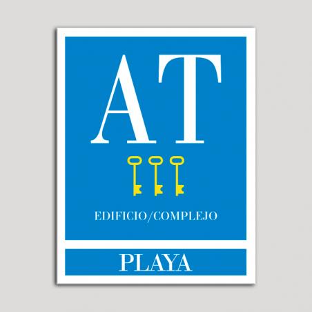 Placa distintivo Apartamento turístico - Edifico/Complejo - Playa - Tres llaves-oro.Andalucía.