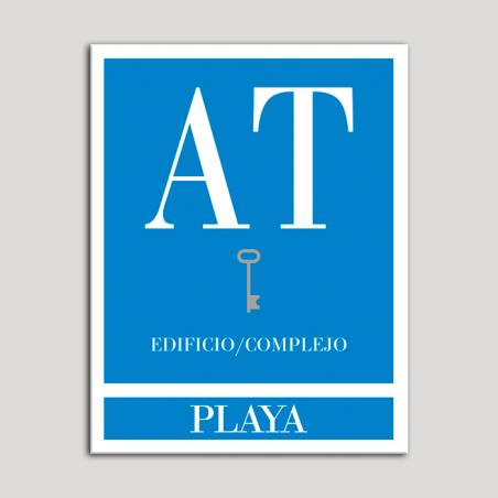 Placa distintivo Apartamento turístico - Edificio/Complejo - Playa - Una llave-plata.Andalucía.