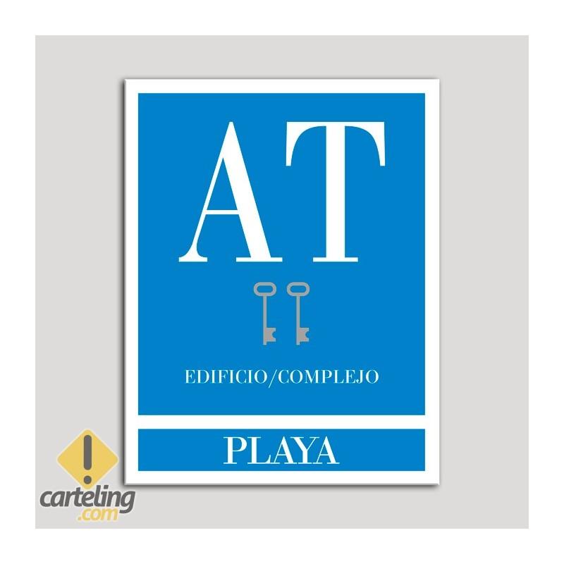 Placa distintivo Apartamento turístico - Edificio/Complejo - Playa - Dos llaves-plata.Andalucía.