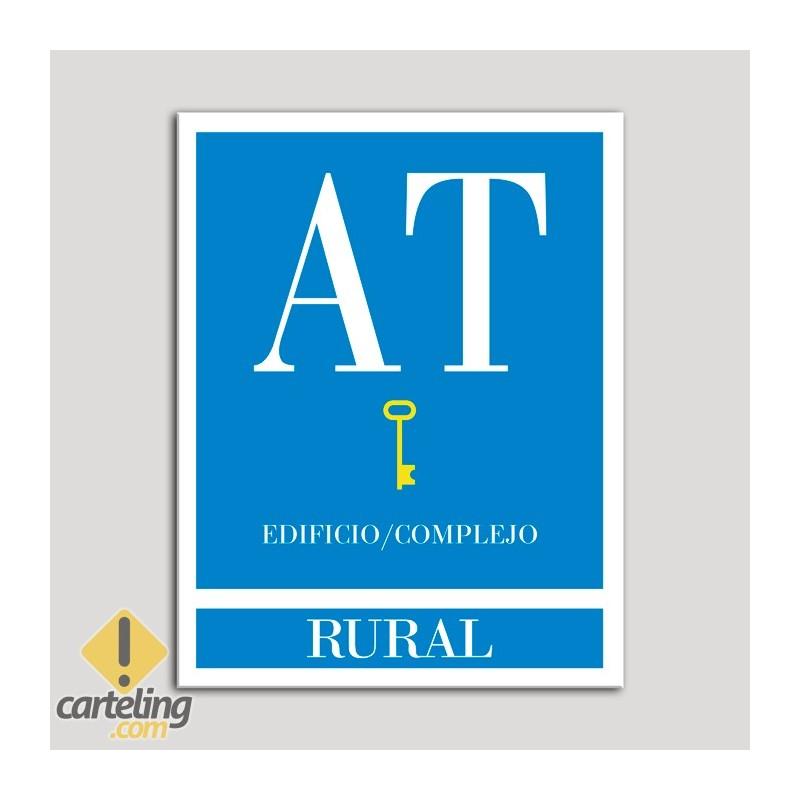 Placa distintivo Apartamento turístico - Edifico/Complejo - Rural - Una llave-oro.Andalucía.