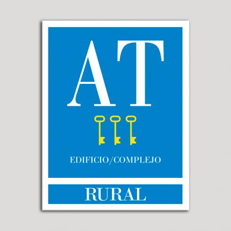 Placa distintivo Apartamento turístico - Edifico/Complejo - Rural - Tres llaves-oro.Andalucía.