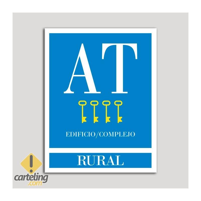 Placa distintivo Apartamento turístico - Edificio/Complejo - Rural - Cuatro llaves-oro.Andalucía.