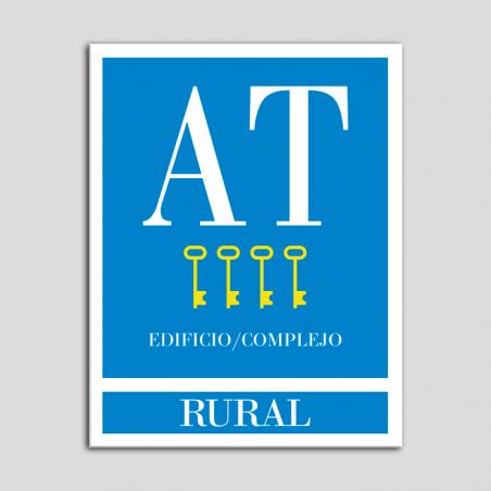Placa distintivo Apartamento turístico - Edifico/Complejo - Rural - Cuatro llaves-oro.Andalucía.