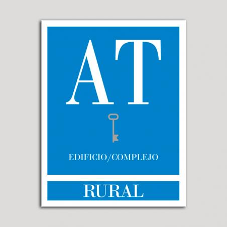 Placa distintivo Apartamento turístico - Edifico/Complejo - Rural - Una llave-plata.Andalucía.