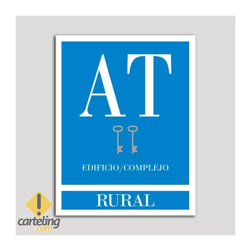Placa distintivo Apartamento turístico -Edificio/Complejo - Rural- Dos llaves-plata.Andalucía.
