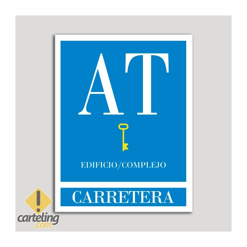 Placa distintivo Apartamento turístico - Edificio/Complejo - Carretera - Una llave-oro.Andalucía.