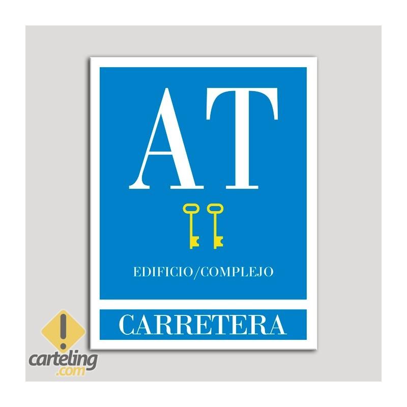 Placa distintivo Apartamento turístico - Edificio/Complejo - Carretera - Dos llaves-oro.Andalucía.