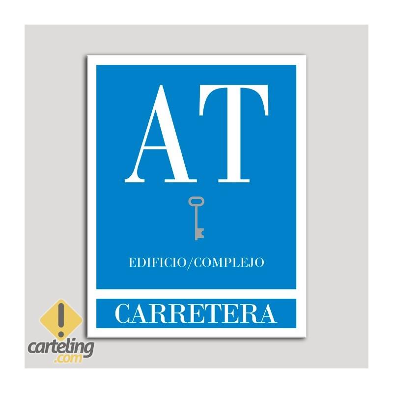 Placa distintivo Apartamento turístico - Edifico/Complejo - Carretera - Una llave-plata.Andalucía.