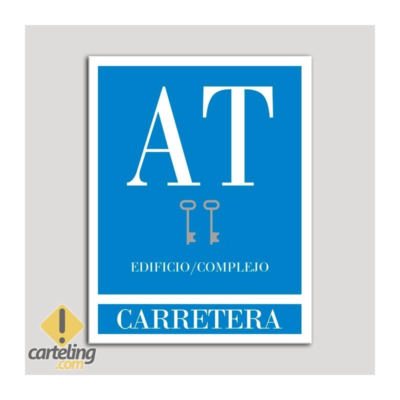 Placa distintivo Apartamento turístico - Edifico/Complejo - Carretera - Dos llaves-plata.Andalucía.