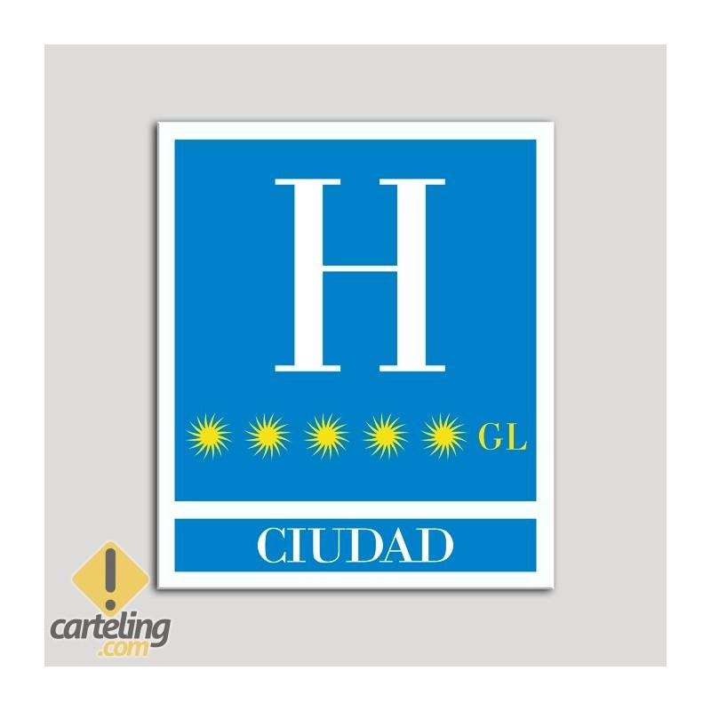 Placa distintivo Hoteles - Ciudad - Gran lujo.Andalucía.
