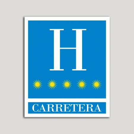Placa distintivo Hoteles - Carretera - cinco estrellas- Oro.Andalucía.