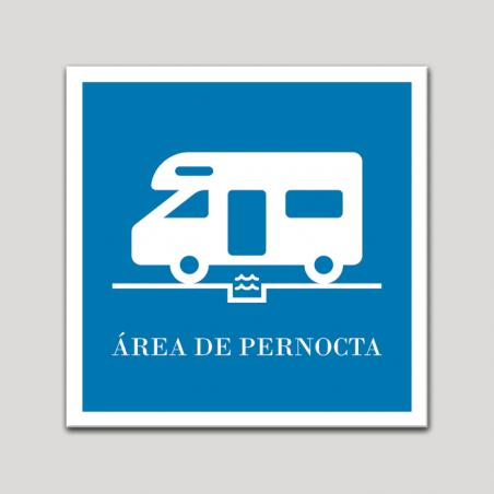 Placa distintivo Campamentos de Turismo - Area de pernocta.Andalucía.