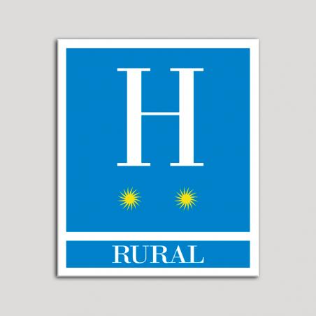 Placa distintivo Hoteles - Rural - dos estrellas- Oro.Andalucía.