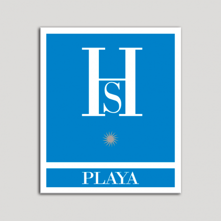 Placa distintivo Hostales - Playa - Una estrella plata .Andalucía.