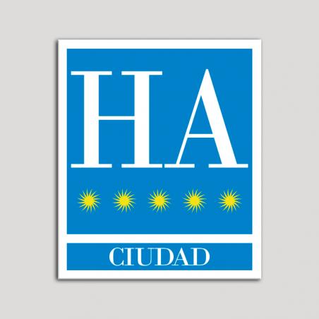 Placa distintivo Hotel - Apartamentos - Ciudad - Cinco estrellas - Oro .Andalucía.