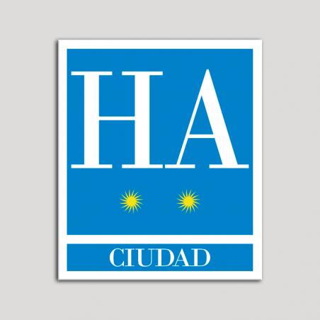 Placa distintivo Hotel - Apartamentos - Ciudad - Dos estrellas - Oro .Andalucía.