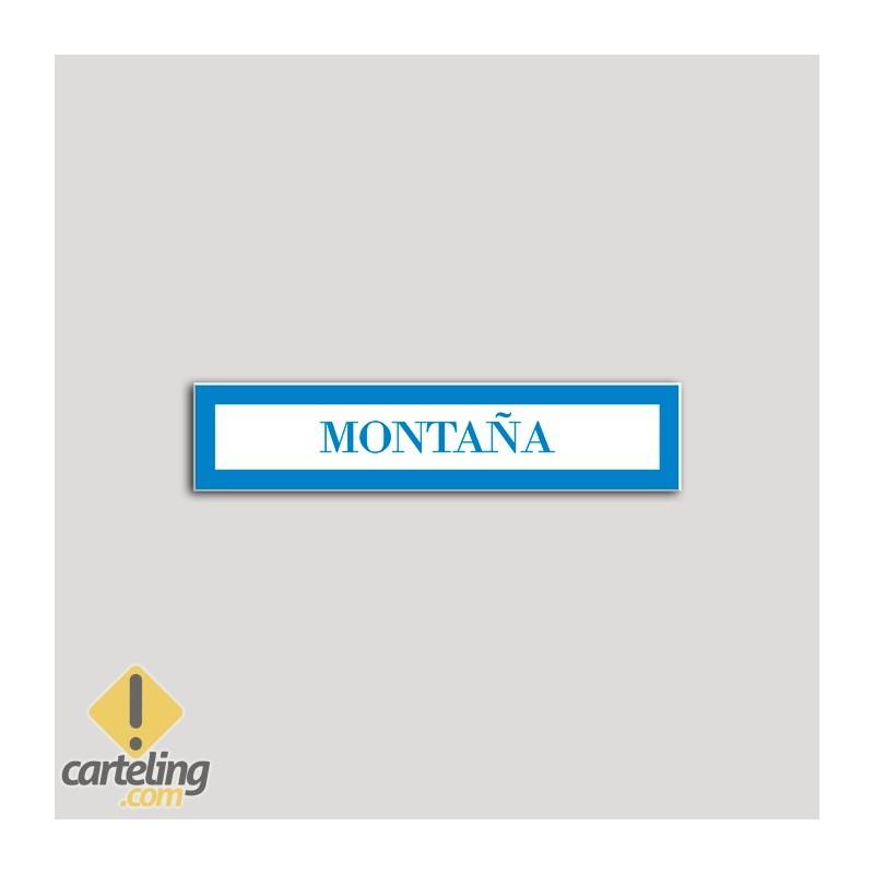 Placa distintivo Hotel - Apartamentos - Especialidad - Montaña.Andalucía.