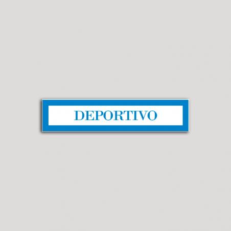 Placa distintivo Hotel - Apartamentos - Especialidad - Deportivo.Andalucía.