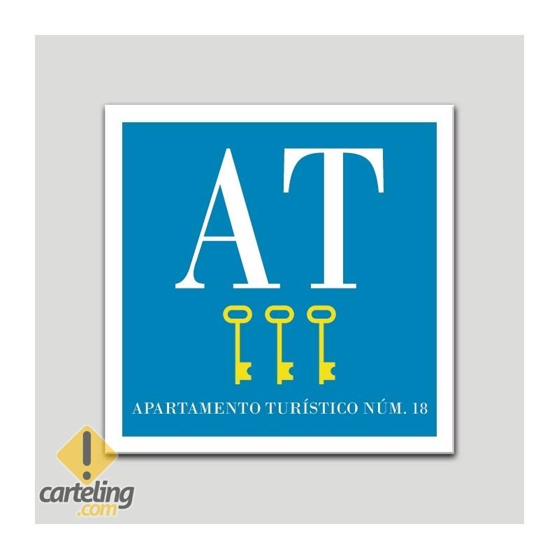 Placa distintivo Apartamento turístico - Tres Llaves - Oro.Andalucía.
