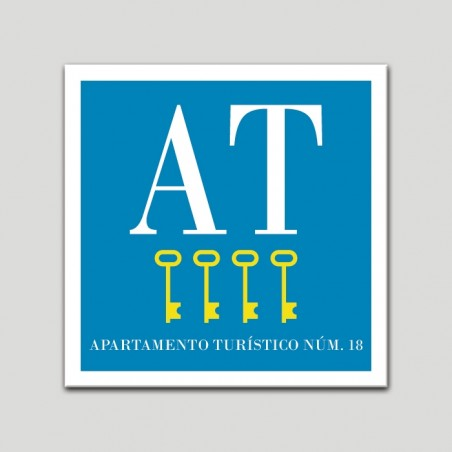 Placa distintivo Apartamento turístico - Cuatro Llaves - Oro.Andalucía.