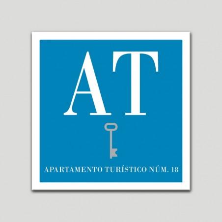 Placa distintivo Apartamento turístico - Una Llave - Plata.Andalucía.