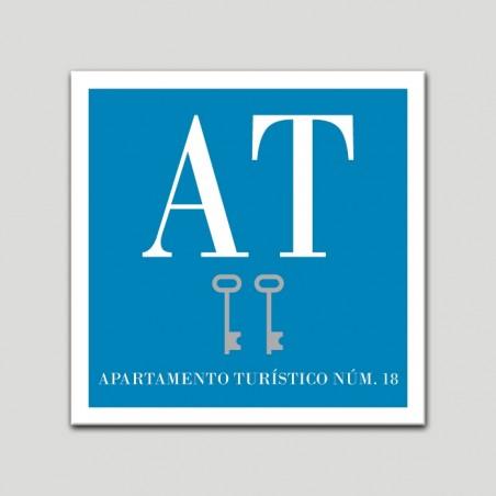 Placa distintivo Apartamento turístico - Dos Llaves - Plata.Andalucía.