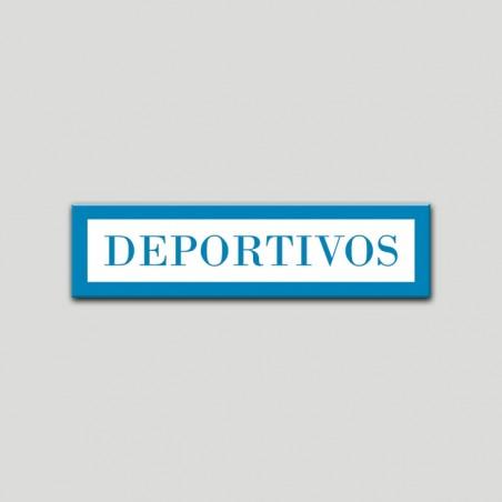 Placa distintivo Apartamento turístico- Especialidad - Deportivos.Andalucía.