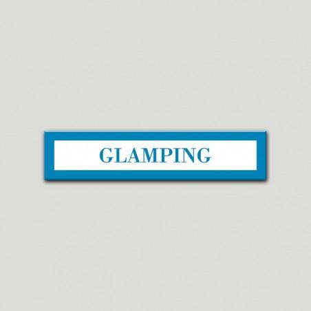 Placa distintivo Campamentos de Turismo- Especialidad - Glamping.Andalucía.