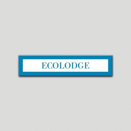 Placa distintivo Campamentos de Turismo- Especialidad - Ecolodge.Andalucía.