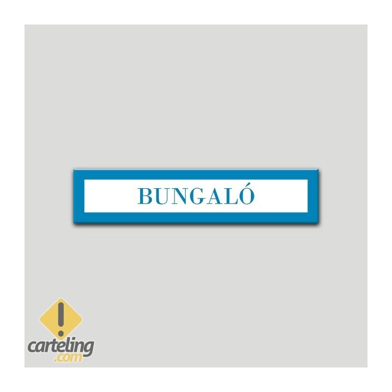 Placa distintivo Campamentos de Turismo- Especialidad - Bungaló.Andalucía.