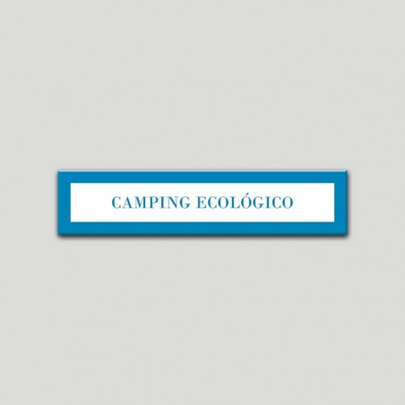 Placa distintivo Campamentos de Turismo- Especialidad - Camping Ecológico.Andalucía.