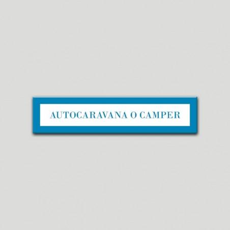Placa distintivo Campamentos de Turismo- Especialidad - Autocaravana o Camper.Andalucía.